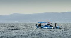 Επισ-τροφή (HarrisGkioulistanis) Tags: sea boat fisherman water blue mountain island sealife greece oropos attica olaellada itsallgreek