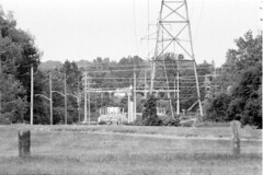 Local Utility Station (pmvarsa) Tags: summer 2018 june analog bw blackandwhite film 135 ilford ilfordfp4plus fp4 fp4plus 125iso nikonsupercoolscan9000ed nikon coolscan manfrotto sekonic cans2s pentax spotmatic pentaxspotmatic classic camera takumar 300mm telephoto knowledge teaching education passonknowledge knowledgetransfer outdoor neighbourhood trees leaves utilitiy power electricity distribution station hill flat depth waterloo ontario canada