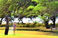 Blur (thomasgorman1) Tags: blurred motion shower outdoors beach park woman abstract island hawaii nikon trees forest