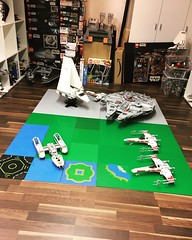 (WIP-HomeOne Hangar) getting a little bit bigger than I was thinking 🤔. But a project I want build since so long time.  @markus19840420 on Instagram (markus19840420) Tags: impressive parts imperialshuttle bwing awing ywing xwing millenniumfalcon hobby hangar moc lego returnofthejedi episode6 starwars homeone