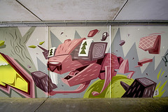 Hungry Beaver (Axerzalp) Tags: graff graffuturism painting