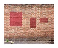 Buff Art, East London, England. (Joseph O'Malley64) Tags: buffart thebuff graffitiremovalasart graffitiremoval graffiti randomart foundart publicart freeart urbanart perceivedart eastlondon eastend london england uk britain british greatbritain art wall walls brickwork bricksmortar cement pointing weeds tarmac waterdamage frostdamage airpollutiondamage urban urbanlandscape terracotta paint handpainted fujix fujix100t accuracyprecision