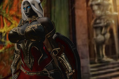 Steel and Silk (Keira Karansfel) Tags: drow armor secondlife second life erotic