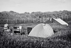The Pitch (Missy Jussy) Tags: pitch tent camping campingtrip northumberland northeastcoast druridgebay holiday fence sanddunes man trevorkerr dog grass field meadow mono monochrome blackwhite bw blackandwhite canon canon5dmarkll canoneos5dmarkii canon5d 50mm ef50mmf18ll ef50mm canon50mm fantastic50mm hemscotthillfarm