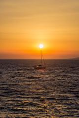 Boat sailing on a sunset (Odysseas Chloridis) Tags: sailing sunset dusk island greece greek islands greekislands mykonos summer vacation holiday