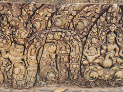 Line art Angkor Wat  ,Angkor Thom , Siem Reap, Cambodia (www.icon0.com) Tags: old cambodia culture temple ancient stone architecture religion art asia statue ruin history tourism sculpture monument religious khmer line thom civilization cambodian asian hindu travel angkor wat bayon heritage tourist