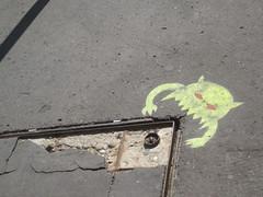 Street Graffiti (A-Ballz) Tags: budapest hungary europe graffiti monster