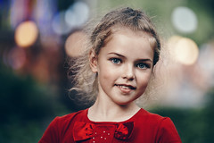 Ksyusha in red #2 (Unicorn.mod) Tags: 2018 colors portrait girl evening summer bokeh child red park canoneos6d canon canonef70200mmf28lisiiusm