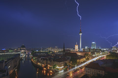 Lightning Strike / TV-Tower Berlin (Light Levels Photoworks) Tags: architecture architektur allemagne adventure atmosphere alexanderplatz berlin berliner city cityscape citylights d750 deutschland dust dom europe europa earth eglise rotes rathaus eclair fernsehturm germany gewitter landscape landschaft light lights licht lzb lichter moment nikon nacht nikkor night nightshot outdoor perspectives paysage photography perspektive photo panorama stadt street streets skyline skyscraper time travel twillight tower tv turm thunderstorm thunder traffic urban view voyage viewpoints ville world wetter wolken weather