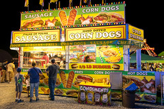 County fair (sniggie) Tags: campbellsville kentucky taylorcounty taylorcountyfair condiments corndogs fairgrounds hotdogs kiosk sausage