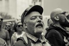 IMG_7288 (O Phil des Contrastes) Tags: grève strike sncf faces visages wokers color bw street urban people paris cheminots
