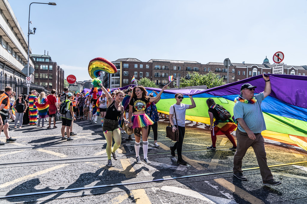 ABOUT SIXTY THOUSAND TOOK PART IN THE DUBLIN LGBTI+ PARADE TODAY[ SATURDAY 30 JUNE 2018] X-100051