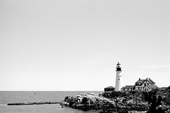 Portland Head Light (jhunter!) Tags: nikonf3 maine rodinal ilforddelta100