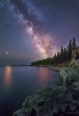 Schoodic Trail (abhijitcpatilphotography) Tags: astrophotography astroscape astro nikonphotography nikon waterscape landscape seascape water colors longxposure cliffs ocean starrysky starrynight stars darksky afterdark skyatnight nightimage nightscape nightphotography nightsky night universe cosmos milkyway