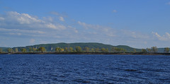 Blue Volga and green Zhiguli (МирославСтаменов) Tags: russia togliatti volga zhiguli river wave