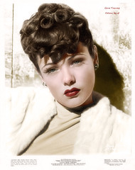 Gene Tierney 1920 - 1991 (oneredsf1) Tags: actress american colorized portrait tierney gene