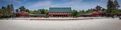 Heian Jingu Shrine Panorama (Gerald Ow) Tags: kyōtoshi kyōtofu japan jp samsung s8 kyoto heian jingu shrine panorama 平安神宮 日本 京都 geraldow shinto landscape worship