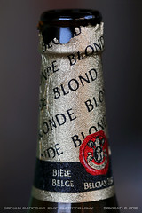Belgian Blonde (srkirad) Tags: macro closeup bottle beer blonde belgian leffe 033 bokeh blur dof deptoffield biere cerveza birra bier