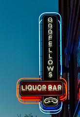 Oddfellows Liquor Bar (Eridony (Instagram: eridony_prime)) Tags: columbus franklincounty ohio shortnorth sign neonsign highstreet