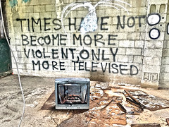 """Reality Television"" (Halvorsong) Tags: ruin industry industrial ruins urbanruins urbanexplorer urban city abandoned decay blight urbandecay urbanblight usa nashville america americana graffiti explore discover building wall walls photosafari hiddengems art photography culture architecture tv television media violence crime wow composition halvorsong reality"