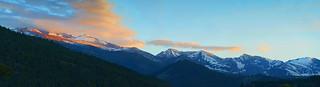 Last light on the peak, Estes Park Colorado