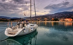 Croatia (Vest der ute) Tags: g7xm2 g7xll croatia clouds sky sailboat sea evening lights reflections houses fav25 fav200