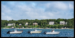 Three Boats (lyncaudle) Tags: island landscape lyncaudle marthasvineyard nature people travel boat water lake pond