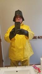 Underlayer 6 (ac_343) Tags: yellow black rainwear raincoat rubber rubberboots fun souwester raingear