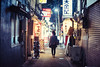 Tokyo Night Alleyway (Jon Siegel) Tags: nikon d810 50mm 12 50mmf12 nikon50mmf12 tokyo night evening alleyway glow people walking wandering japan japanese lanterns bars restaurants
