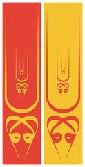 Double-vav Tilaka (them_cairo_doors) Tags: doublewaaw arabic arabicscript hindu muslim syncretism sriyantra lotusflower tilaka vermillion safron sufi sufism waw waaw