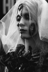 Zombie bride (PH∅T∅Matrix) Tags: cosplay blackwhite zombie fantasy portrait contrast comic comiccon