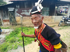 Konyak headhanter. Mon village, Mon DC, Nagaland, India (n1ck fr0st) Tags: konyak headhanter mon nagaland village india dc festival
