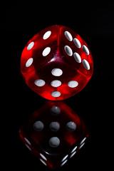 Würfel (sandygortol) Tags: macromondays plastic würfel cube red rot reflection spiegelung samsungnx30 s1855csb