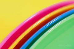 Cocktail spoons (Karsten Gieselmann) Tags: 60mmf28 blau dof em5markii gelb grün mzuiko macromondays makro microfourthirds olympus orange rosa schärfentiefe blue green kgiesel m43 macro mft pink yellow plastic
