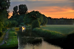 Wheelock or is it Malkins Bank? (PentlandPirate of the North) Tags: canal boat wheelock sandbach cheshire malkinsbank duck peaceful tranquility countryside