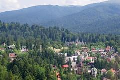 imgp9623_v1 (Mr. Pi) Tags: houses village mountains romania dirtywindow sinaia carpathians