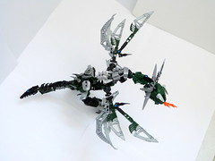 [BIO-CUP 2018] Hasvåg the viking and Holmsund  the green wyvern (Cѳpnfl) Tags: lego moc ccbs bionicle vikings biocup 2018 wyvern dragon vouivre ikea