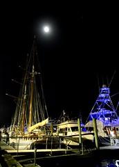 Moon Shot (pjpink) Tags: night boat ship dock docks waterfront sailboat boating boatinglife beaufort northcarolina nc carolina coast coastal eastcoast crystalcoast spring 2018 may pjpink 2catswithcameras
