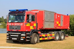 Humberside Fire & Rescue Service MAN TG-A High Volume Pumping Unit Prime Mover (PFB-999) Tags: humberside fire and rescue service hfrs brigade man tga prime mover pm high volume pumping unit hvpu lightbar grilles strobes leds wx54vle day 2018