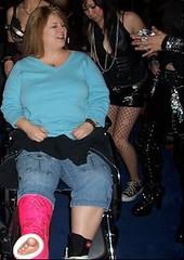 PC1 Plastered Plumper on Wheels (jackcast2015) Tags: disabledwoman legcast shortlegcast wheelchair disabled crippled bbw bariatric