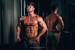 DSCF3353 - EDIT (Cat&Crown) Tags: fitness male photography gym muscle muscular health bodybuilder bodybuilding equipment weights dumbbells pecs bicep abs model