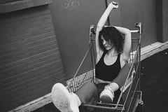 Ines (Mes Mots Rient.) Tags: portrait femme noir et blanc lille fashion city street urban