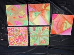 I'm a Little Bit Crazy (Jill Clardy) Tags: paint canvas art project neon colors kids artwork explore explored