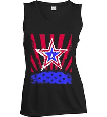 Don't Tread on Me: Red, White and Blue Rattlesnake. Women's: Sport-Tek Ladies' Sleeveless Moisture Absorbing V-Neck. Black.    Loyal Nine Apparel (LoyalNineApparel) Tags: 2a billofrights conservative constitution country countrygirl countrylife cute dtom fashionista girlsandguns girlswguns gop gungirl liberty livefreeordie loyalnineapparel loyalnineclothes madeinusa ootd patriot southern stylish teaparty tee teeshirt threepercent threepercenter tshirt womenwhoshoot