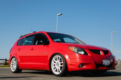 DSC_0714 (jaytotheveezy) Tags: pontiac vibe base lava red 1zz work crkai kiwami ultimate bcracing coilovers toyo tires genvibe