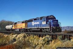 Conrail Quality on the Gomex Turn (jamesbelmont) Tags: norfolksouthern corail unionpacific gp402 gomex springville utah drgw riogrande merger prr