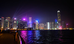 Hong Kong Island and Victoria Harbour at Night - Hong Kong (mbell1975) Tags: hongkong hongkongisland hk hong kong china sar night evening sympothy lights sol water harbor harbour sea pacific ocean