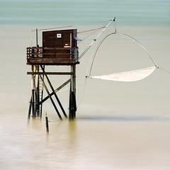 Fishing-Structure- (petefoto) Tags: fishing carrelet sea brittany tharon longexposure nikond810 cabin net filters