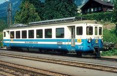 MOB 1002  Chateau d`Oex  24.06.81 (w. + h. brutzer) Tags: chateaudoex eisenbahn eisenbahnen train trains schweiz switzerland railway triebwagen triebzug triebzüge mob webru analog nikon