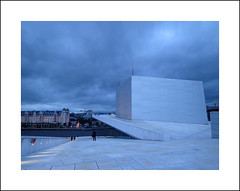 Oslo opera exterior study I (Christa (ch-cnb)) Tags: oslo norway norge opera house architecture snøhetta blue clouds olympus tg4 tough